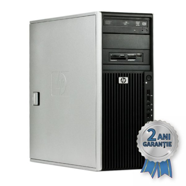 WorkStation H.P. Z400, Intel® Xeon® W3565 up to 3460MHz | 6GB RAM DDR3-ECC Triple Channel | Hard Disk 500GB S-ATA | DVD-RW | Video AMD® Radeon™ HD 6570 1GB | Licență Windows 7 PRO COA