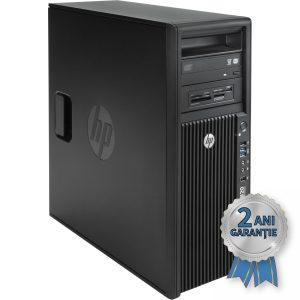 WorkStation H.P. Z420, Intel® Xeon® E5-1650 v2 up to 3900MHz | 12GB RAM DDR3-ECC Quad-Channel | SSD 256GB SerialATA 6Gbps | DVD-RW | Video NVIDIA® Quadro™ 2000 1GB GDDR5 | Licență Windows 7 PRO COA