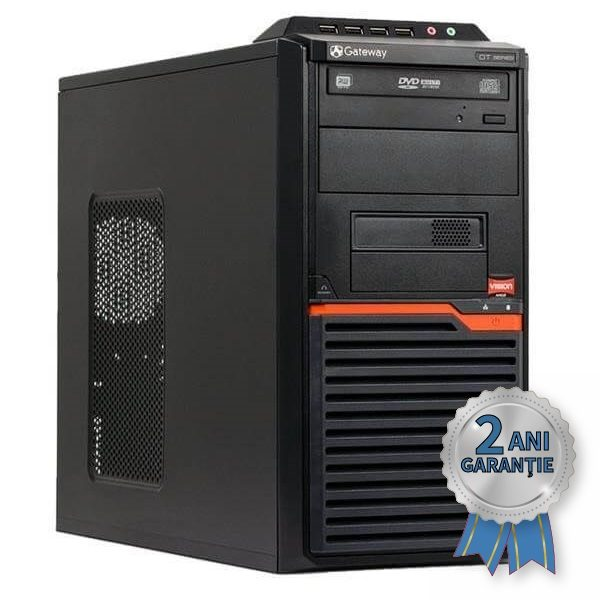 Sistem Refurbished Gateway DT55, AMD Athlon® II X2 260 3200MHz | 4GB RAM DDR3 | Hard Disk 500GB S-ATA | DVD-RW | Video ATI Radeon® HD4250