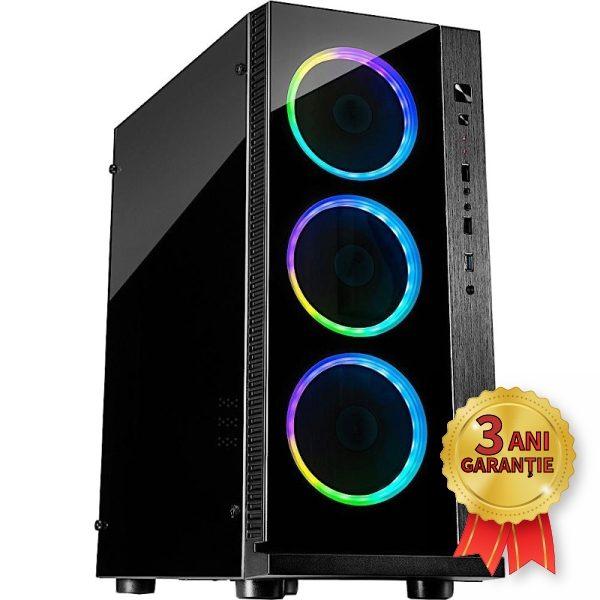 Sistem Nou INTER-TECH W-III RGB, Intel® Core™ i7-6700K up to 4200MHz   16GB RAM DDR4   SSD 120GB M.2 2280 + Hard Disk 750GB S-ATA   Video AMD® Radeon™ RX 570 8GB GDDR5   Licență Windows 10 PRO