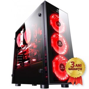 Sistem Nou REDRAGON SIDEWIPE, Intel® Core™ i7-7700K up to 4500MHz | 16GB RAM DDR4 | SSD 240GB M.2 2280 | Video AMD® Radeon™ RX 570 8GB GDDR5 | Licență Windows 10 PRO