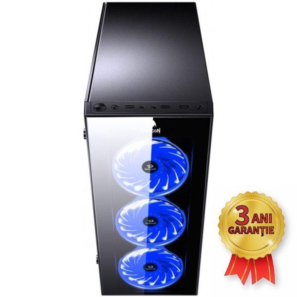 Sistem Nou REDRAGON SIDEWIPE, Intel® Core™ i7-7700K up to 4500MHz | 16GB RAM DDR4 | SSD 240GB M.2 2280 | Video AMD® Radeon™ RX 570 8GB GDDR5 | Licență Windows 10 PRO